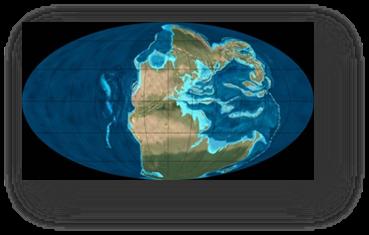 Figure 2A: Configuration de le Terre à la fin de l'ère primaire.